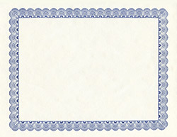 Conventional Blue Award Certificates A4, 25/PK