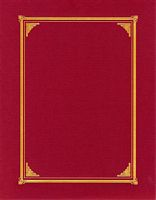 Document Covers - Linen Burgundy 3 /Pk