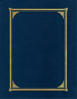 Document Covers - Linen Blue 3 /Pk