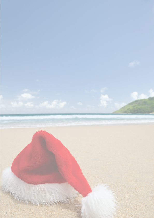 Christmas Beach Letter Head