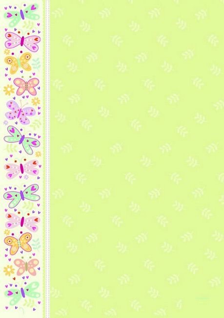 butterflies border pop up design paper a4 25pk