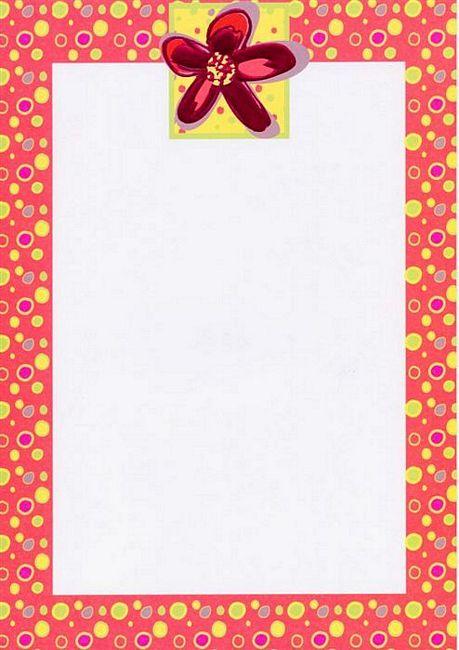Simple Flower Border Designs For A4 Paper Flower dot red foil design