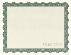 Optima Green Parchment Certificates A4, 25/PK