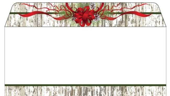 Christmas stationery pine cones ribbon christmas envelopes dl