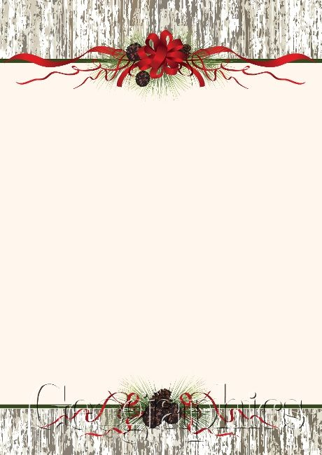 Pine cones amp ribbon christmas letterhead glitter a4 48921 stationery