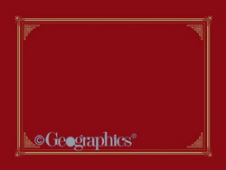 Red Classic Linen Document Covers, Gold Foil, 248x318 mm, 6/PK