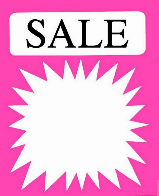 Soft image inside printable sale sign