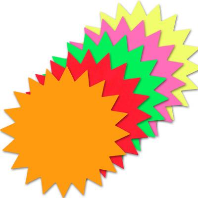 Starburst Signs Template Stars Neon Fluro Blank Small Assorted 12019 Case Geographics Australia
